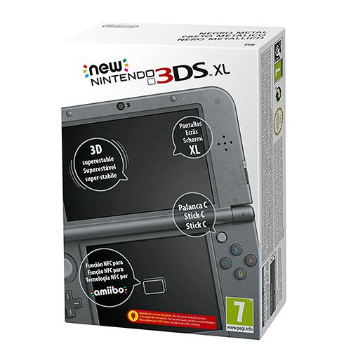 new 3ds xl negra