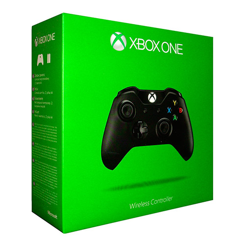 mando xbox one negro caja verde